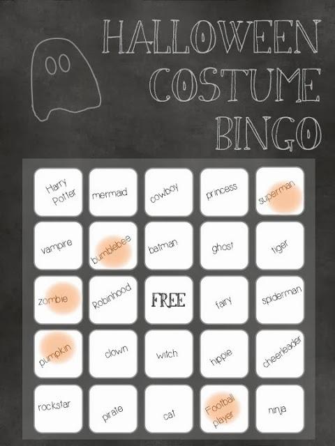 Halloween Costume Bingo Lemon Thistle