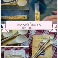 These DIY wood burn spoons would make a great gift!