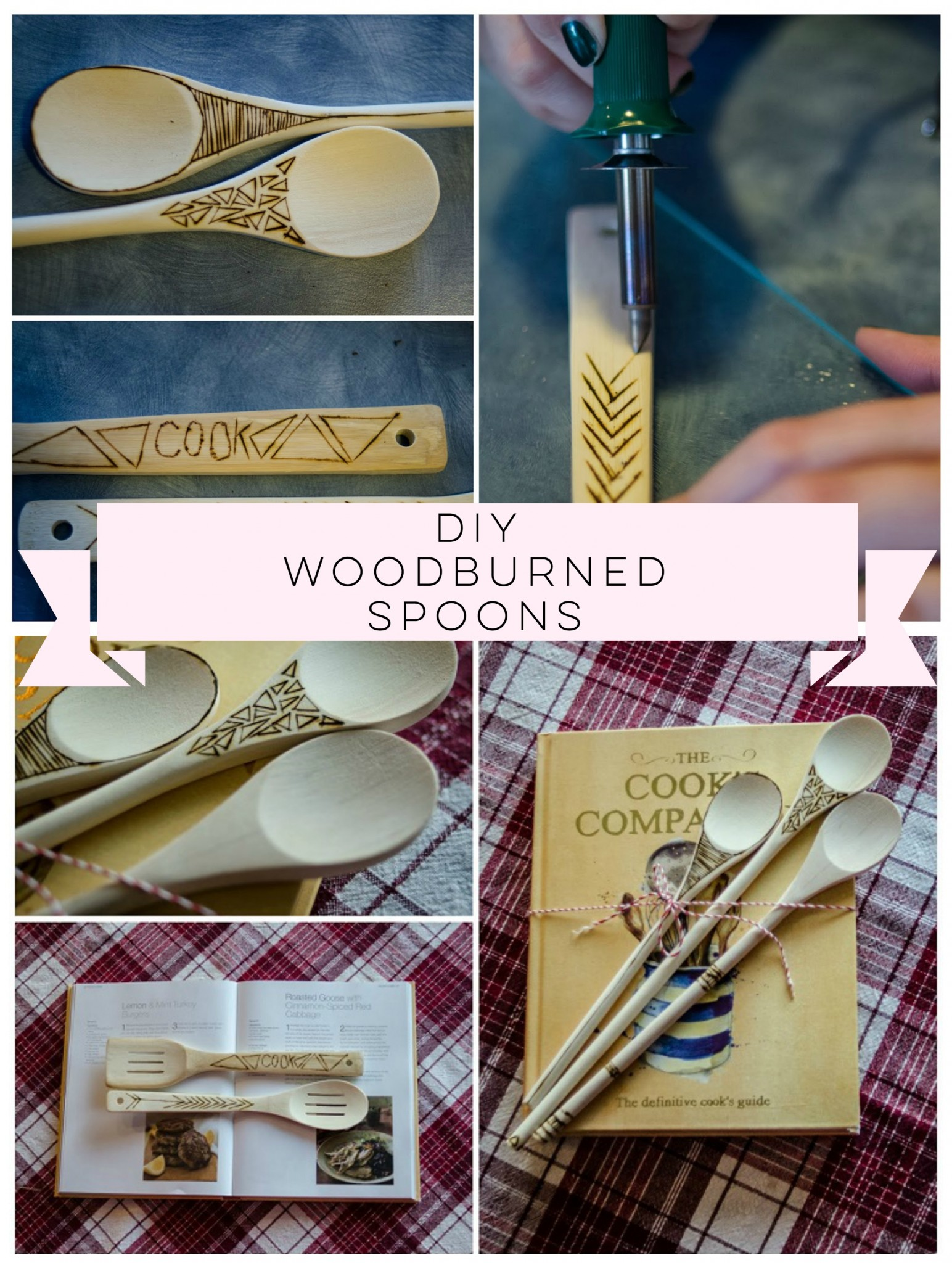 These DIY Woodburned Spoons would make a great gift! Or look great in my kitchen.