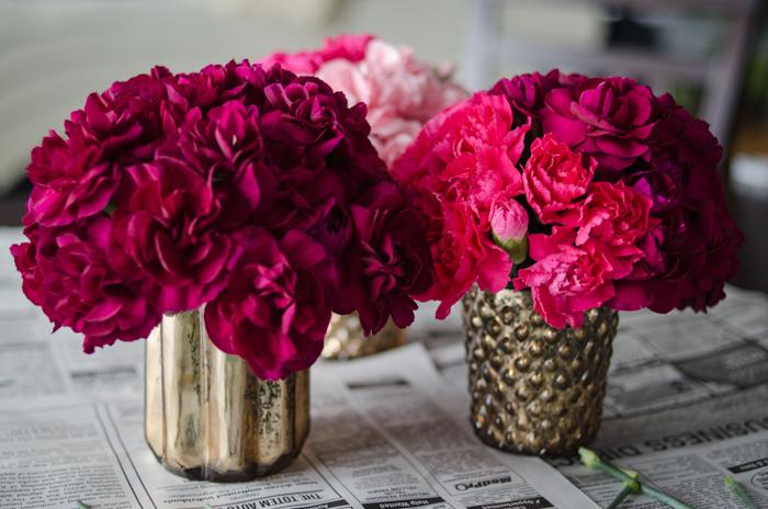 DIY Mini Carnation Arrangement - lemonthistle.com