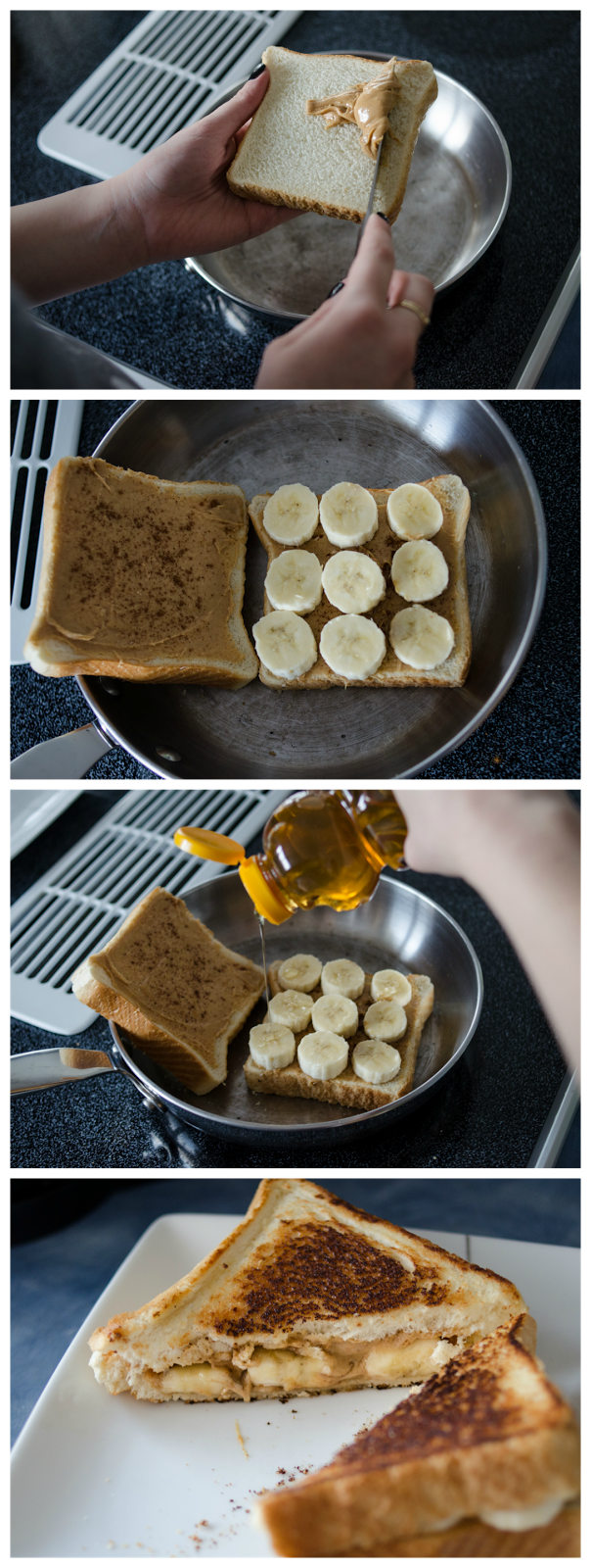 This grilled peanut butter and banana sandwich looks delicious!