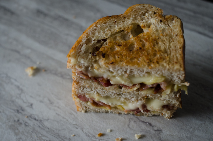 Apple Brie Bacon Grilled Cheese-lemonthistle.com