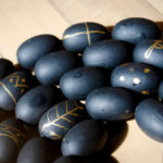 DIY Black and Gold Mini Easter Egg Garland