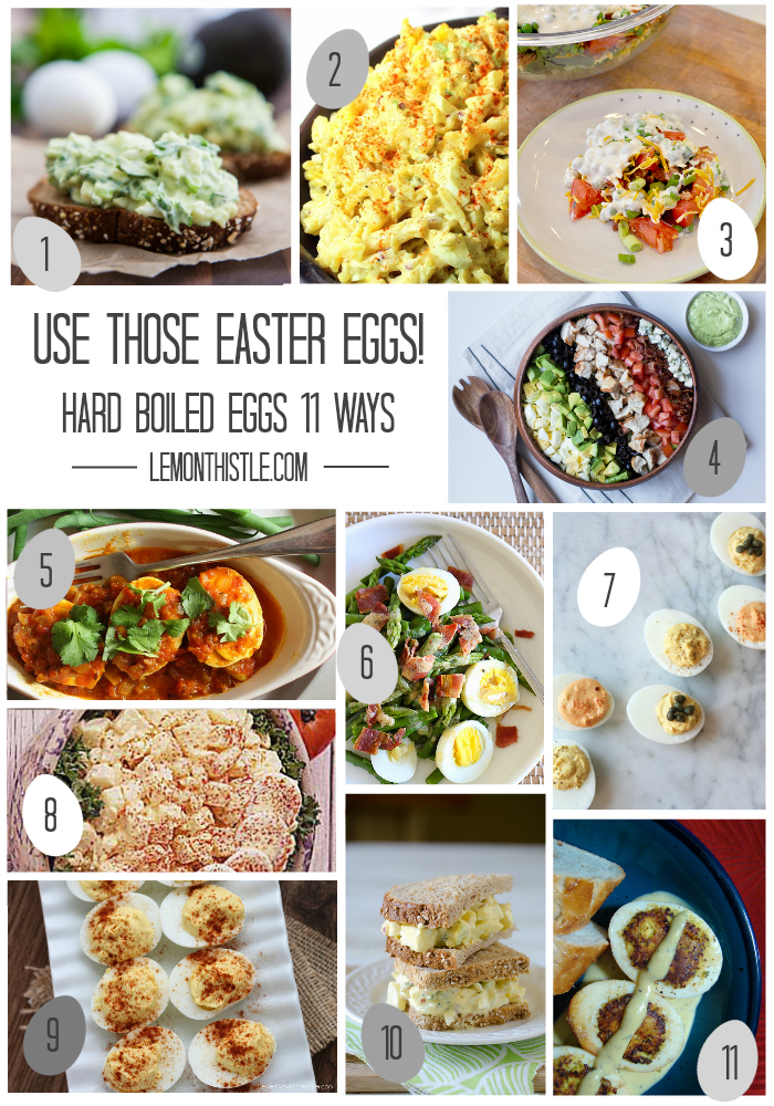 11 Recipes to use Hard Boiled Eggs - lemonthistle.com