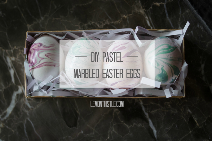 DIY Pastel Marbled Easter Eggs - lemonthistle.com