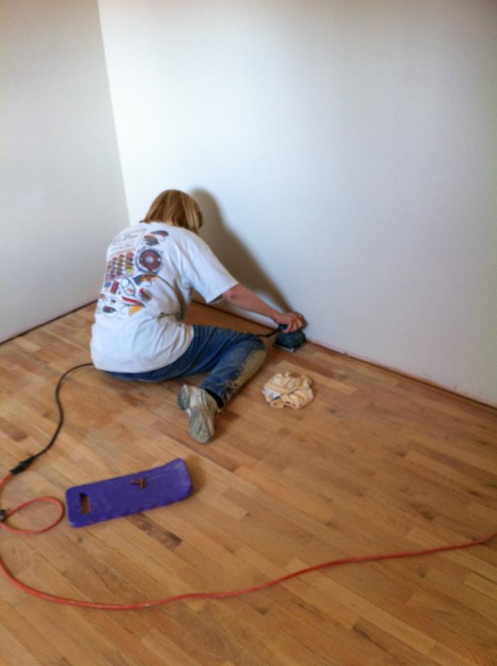 Refinishing Thin Hardwood - lemonthistle.com