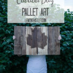 DIY Canada Day Pallet Art- and a money saving secret