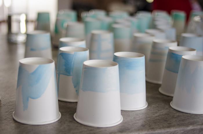 DIY Watercolour Party Cups - lemonthistle.com