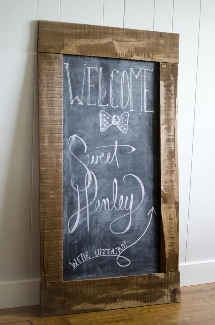 DIY Giant Chalkboard - lemonthistle.com