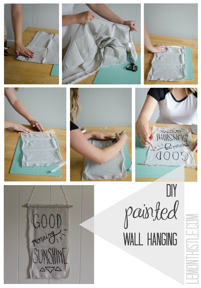 DIY Painted Wall Hanging - Lemonthistle.com