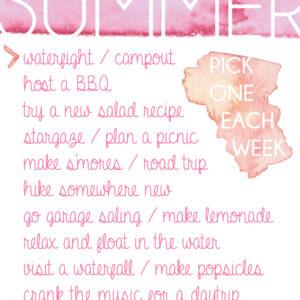 Summer To - Do List free printable - lemonthistle.com
