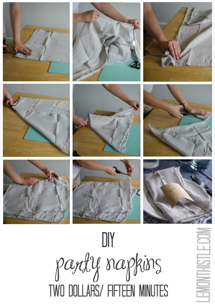 DIY Party Napkins! - lemonthistle.com