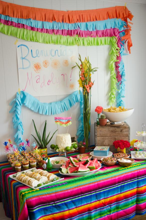 DIY Frugal Fringe Garland- perfect for a fiesta! -lemonthistle.com