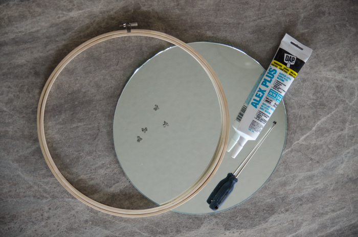 DIY Hoop Mirror: An Anthro Knockoff! -lemonthistle.com