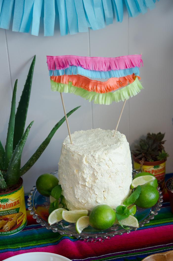 Creamy Lime Watermelon Cake - lemonthistle.com
