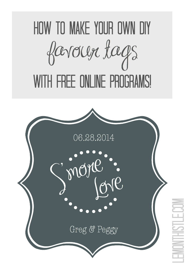 How to make your own Favour Tags using free online programs! - lemonthistle.com