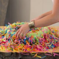 DIY Confetti Wreath with a video tutorail! Lemonthistle.com