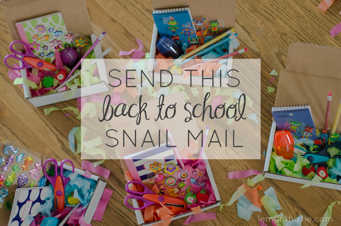 Send some back to school mail - lemonthistle.com
