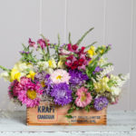 DIY Vintage Cheesebox Floral Arrangement