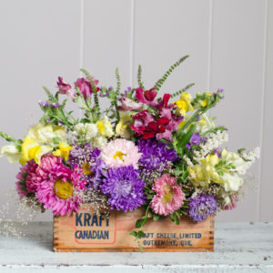 DIY Vintage Cheesebox Florals