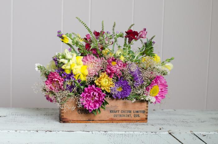 DIY Vintage Cheesebox Florals