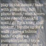 Autumn To Do List: A Free Printable