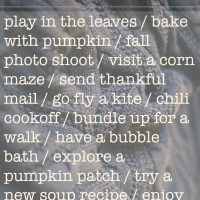 Love this list! Autumn To Do List - Lemonthistle.com