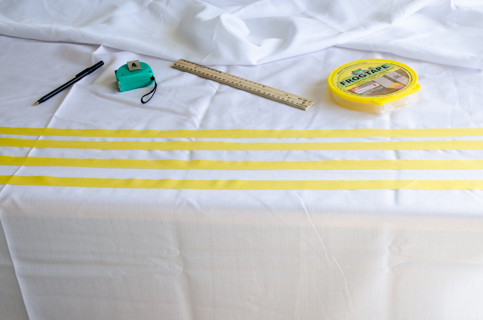 DIY Simple Stripes Table Cloth