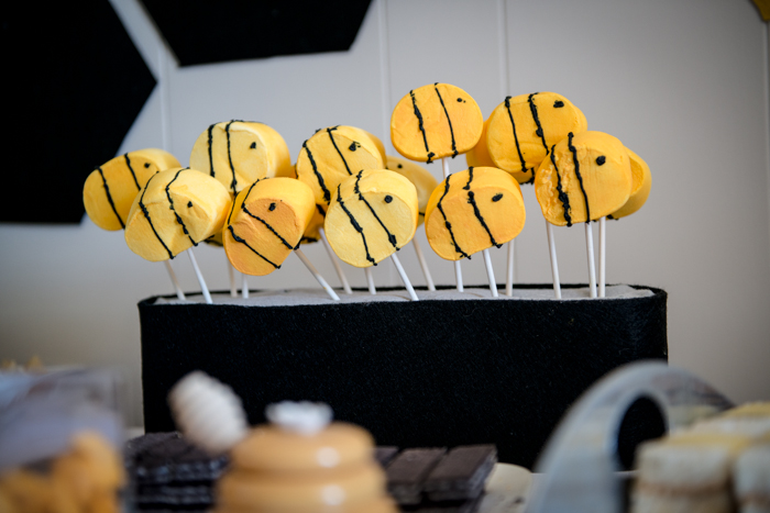 GIANT DIY Bumble Bee Marshmallow Pops