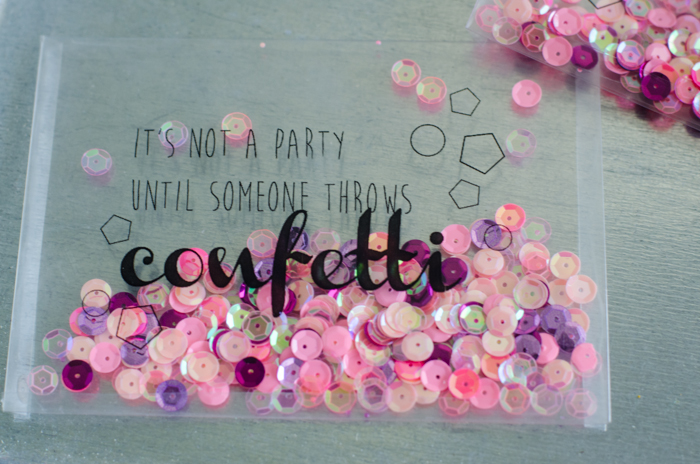 Such a fun printable!! DIY Translucent Confetti Packets