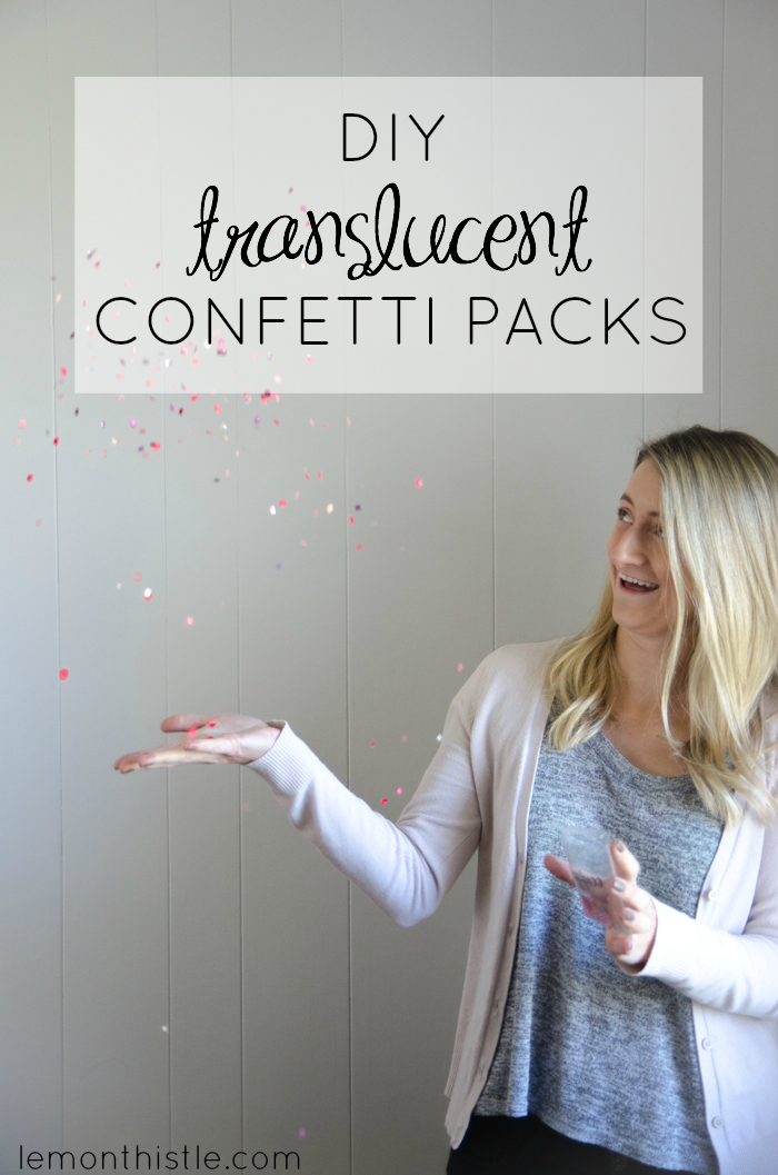 So stinkin' fun! DIY Translucent Confetti Packets - lemonthistle.com