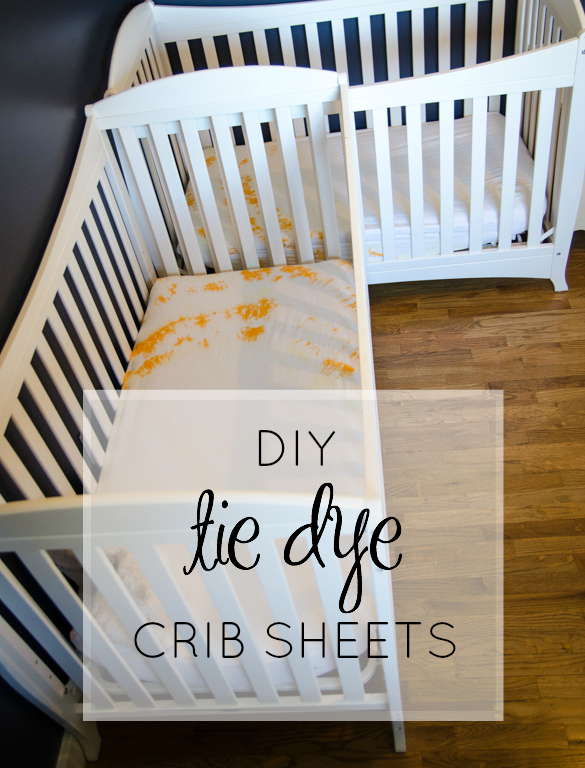 How fun is this!? DIY Tie Dye Crib Sheets - lemonthistle.com for Pretty Providence