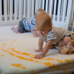 Over Here: DIY Tie Dye Crib Sheets