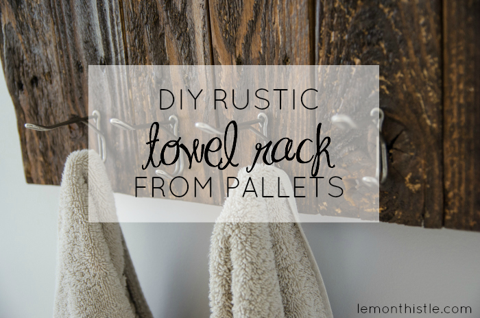 Awesome video tutorial! DIY Rustic Towel Rack from Free Pallet Wood