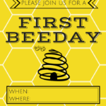 BeeDay Backdrop and Invite: Free Printable