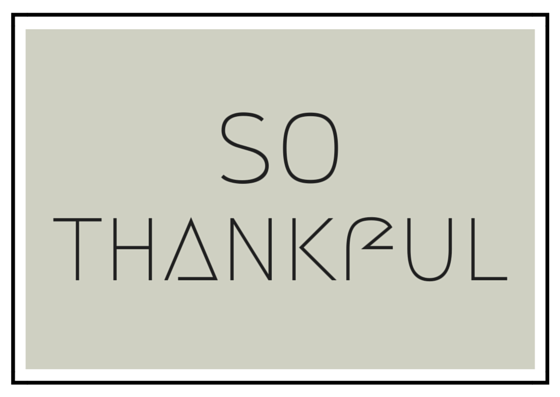 SO Thankful, Free Printable Card