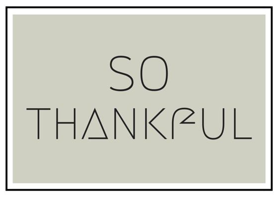 SO Thankful, Free Printable Card