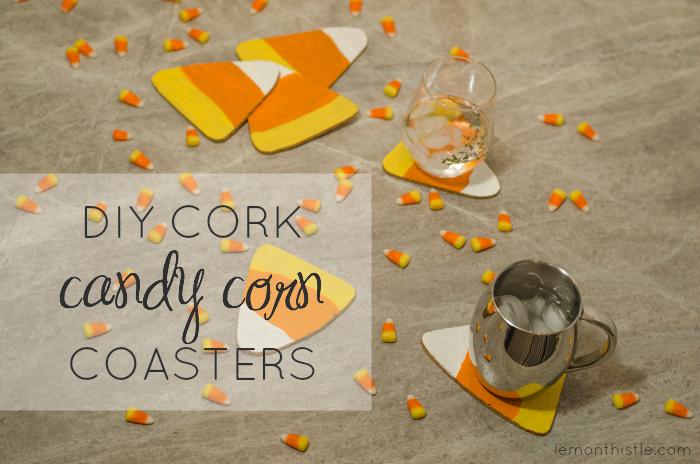 Fun idea! DIY Cork Candy Corn Coasters