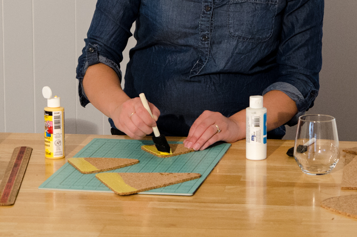 DIY Cork Candy Corn Coasters