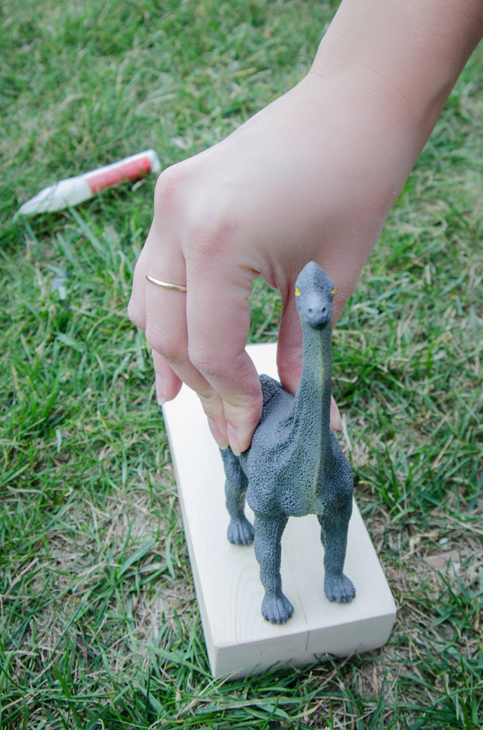 So cute! DIY Dino Doorstop (An Anthro Hack)