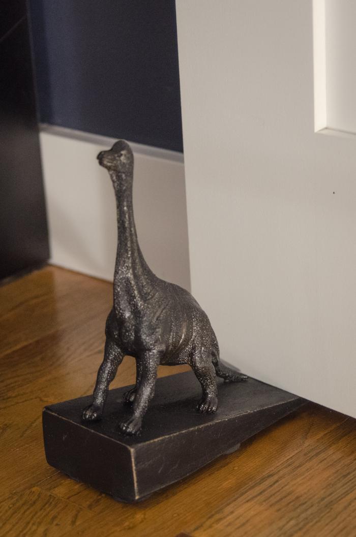 So cute! DIY Dino Doorstop (An Anthro Hack)