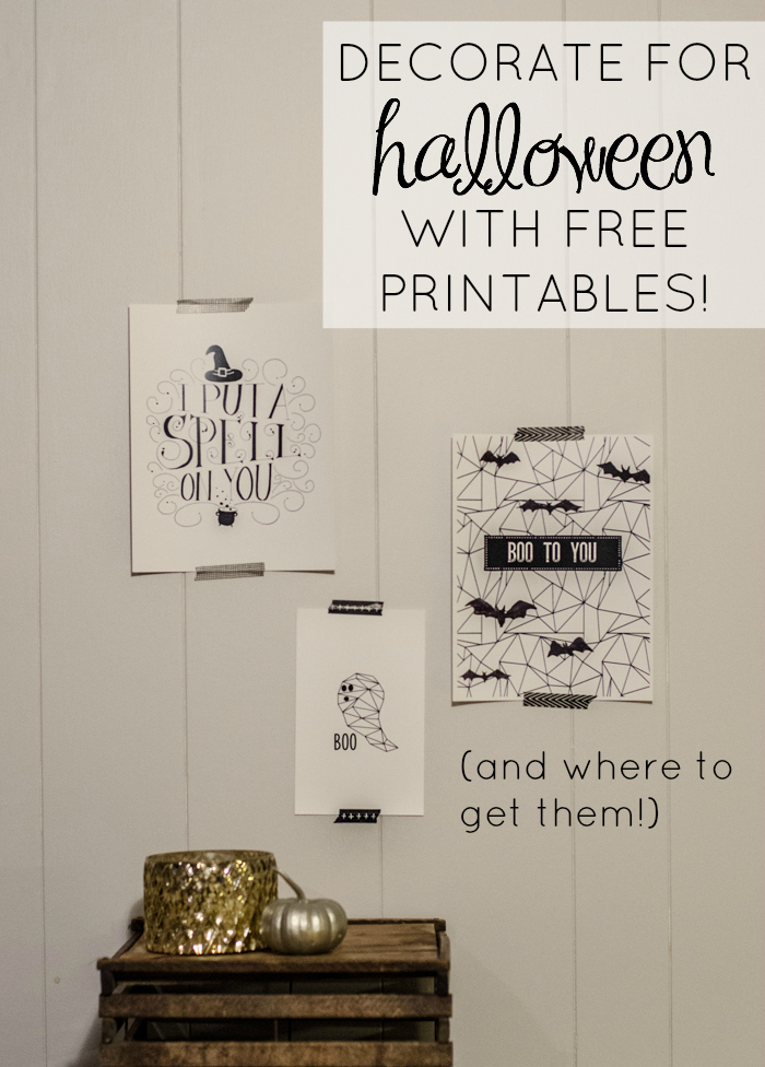 Boo! Geometric Ghost Free Printable and how to use them.