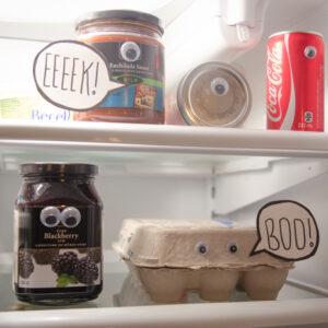 What a fun idea! A spooky fridge surprise!!