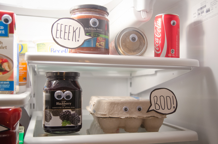 What a fun idea! A spooky fridge surprise!!