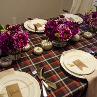 LOVE this plaid! Friendsgiving Tablescape & The start of a tradition