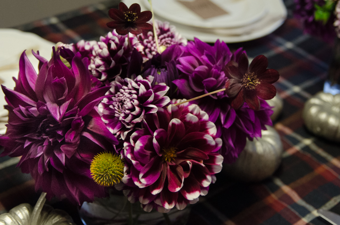Love the deep purples for thanksgiving colours! Untraditional but still warm and cozy... Friendsgiving 2014- the start of a tradition