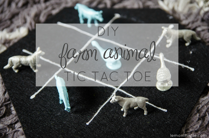 What a fun gift! DIY Farm Animal Tic Tac Toe