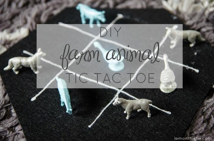 What a fun gift! DIY Farm Animal Tic Tac Toe