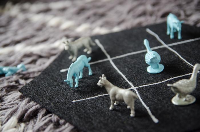 How fun! I'd give it as a gift to my neices for Christmas... DIY Farm Animal Tic Tac Toe