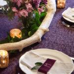DIY Monogrammed Velvet Napkin Rings (and Bunting)